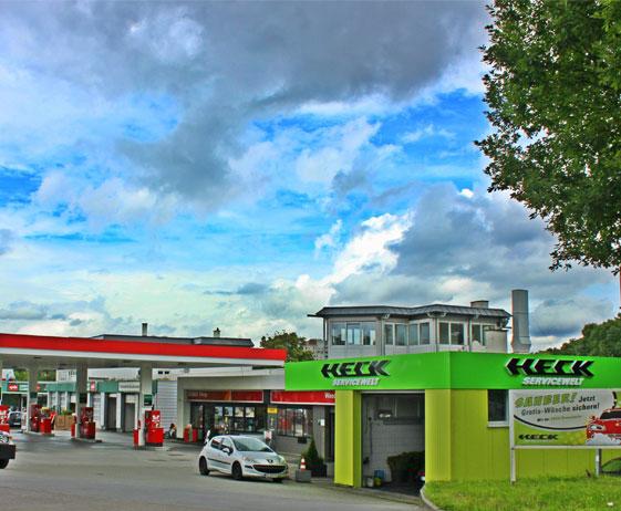 Esso Tankstelle an der A8/B27 in Möhringen